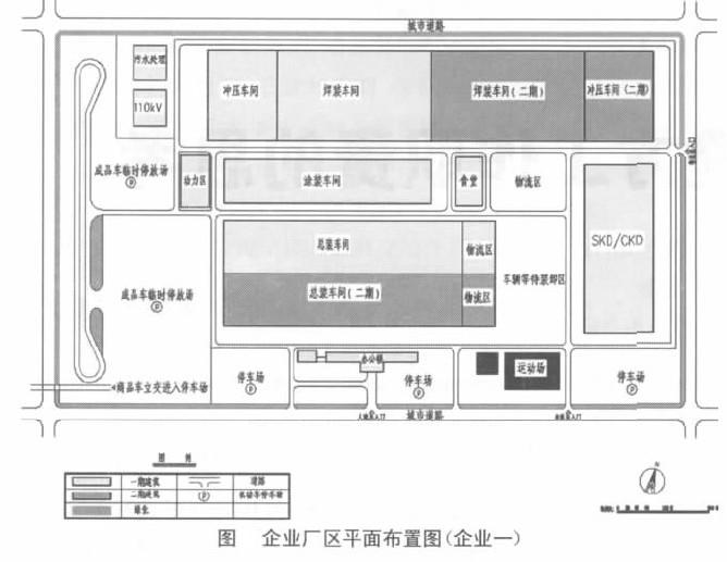 企业厂区平面布置图(企业一)