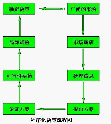 程序化决策的流程框图
