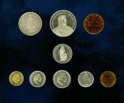 瑞士法郎硬币