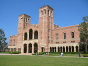 Royce Hall, one of UCLA's first four buildings, is built in the Italian Lombard Romanesque style.