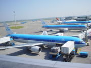 KLM aircraft at Schiphol Airport