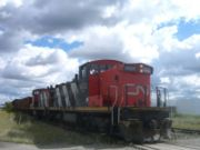 CN train at the busy East Junction, Edmonton, 2006