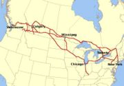 Canadian Pacific Railway Network Map