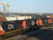 3 CN Dash 9-44CWs arrive in Selkirk, New York