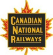 "The Canadian National Railways logo or herald (Which would later be replaced by the controversial CN ""worm"" in the early 1960s)"